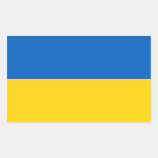 ウクライナの旗が付いている長方形のステッカー 長方形シール