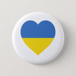 ウクライナの旗のハート 缶バッジ