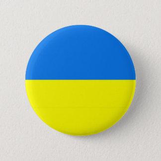 ウクライナの旗のボタンかラペルピン 5.7CM 丸型バッジ