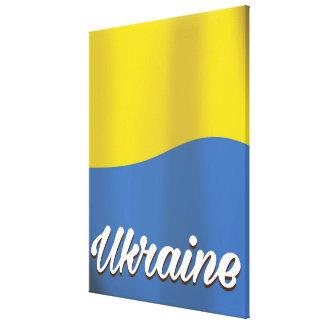 ウクライナの旗のヴィンテージ旅行ポスター キャンバスプリント