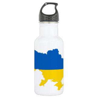 ウクライナの旗の地図 ウォーターボトル