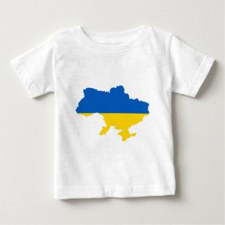 ウクライナの旗の地図 ベビーTシャツ