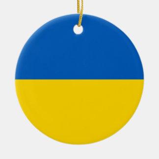 ウクライナの旗を持つオーナメント セラミックオーナメント