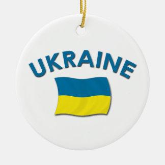 ウクライナの旗-オーナメント セラミックオーナメント