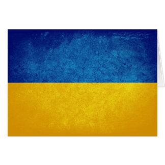 ウクライナの旗 カード