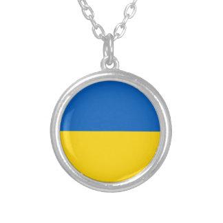 ウクライナの旗 シルバープレートネックレス