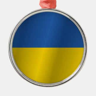 ウクライナの旗 メタルオーナメント