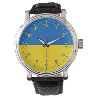 ウクライナの旗 腕時計