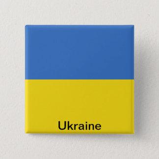 ウクライナの旗 5.1CM 正方形バッジ