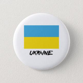 ウクライナの旗 5.7CM 丸型バッジ