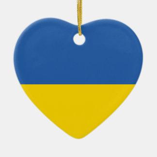 ウクライナの明白な旗 セラミックオーナメント