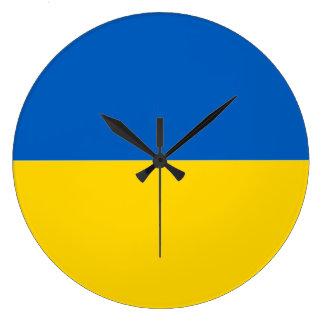 ウクライナの時計の旗 ラージ壁時計