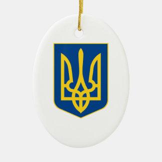 ウクライナの紋章付き外衣 セラミックオーナメント