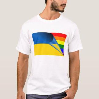ウクライナゲイプライドの虹の旗 Tシャツ