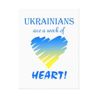 ウクライナ人の…ハート キャンバスプリント