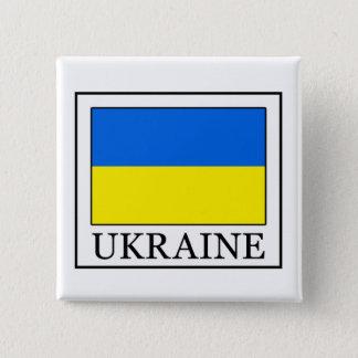 ウクライナ 5.1CM 正方形バッジ