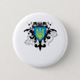 ウクライナ 5.7CM 丸型バッジ