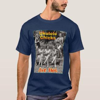 ウクレレのひよこは熱いです Tシャツ