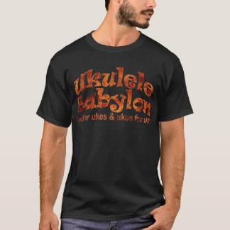 ウクレレのバビロンの黒いTシャツ Tシャツ