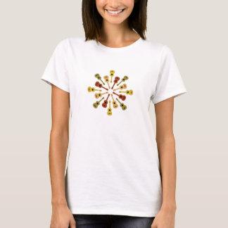 ウクレレのワイシャツ-スタイル及び色を選んで下さい Tシャツ