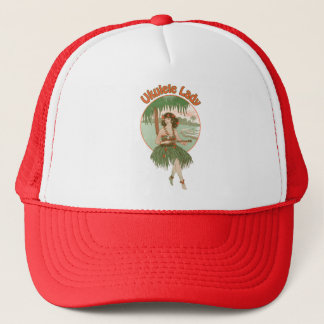 ウクレレの女性#1帽子 キャップ