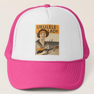 ウクレレの女性#2帽子 キャップ