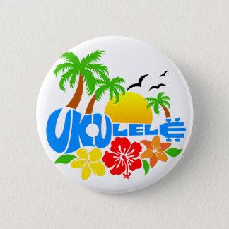 ウクレレの島のロゴ 缶バッジ