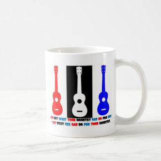 ウクレレの愛国心 コーヒーマグカップ