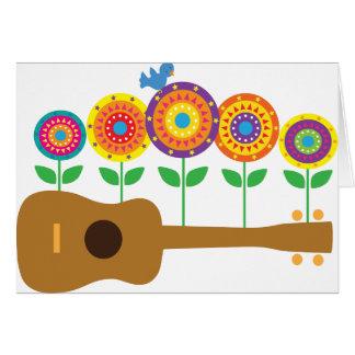 ウクレレの花 グリーティングカード