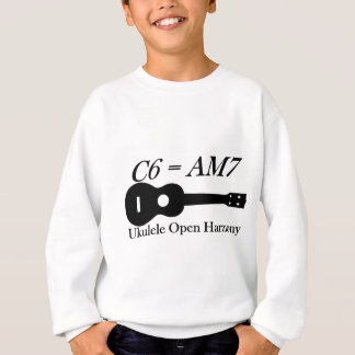 ウクレレの開いたコード スウェットシャツ