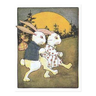 ウサギおよび朝日 ポストカード