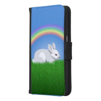 ウサギおよび虹 GALAXY S6 ウォレットケース