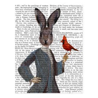 ウサギおよび鳥2 ポストカード