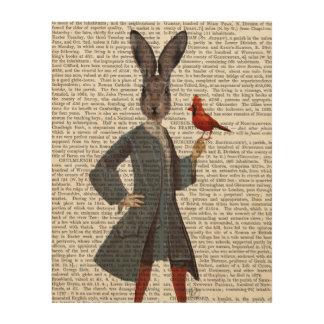 ウサギおよび鳥 ウッドウォールアート