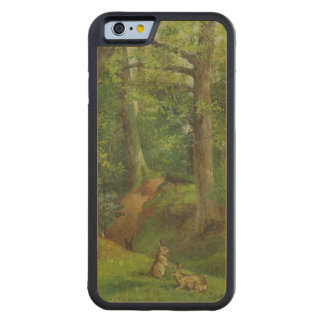 ウサギとの森林場面、1862年(キャンバスの油) CarvedメープルiPhone 6バンパーケース