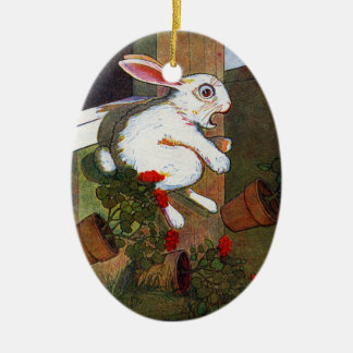 ウサギによってはPottingの小屋が脱出します セラミックオーナメント