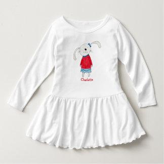 ウサギのアリスの名前入りな一流の甘い服 ドレス