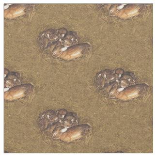 ウサギのキットの巣 ファブリック
