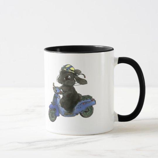ウサギのバイク マグカップ マグカップ