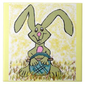 ウサギのバニーの漫画の子供の家のタイル タイル