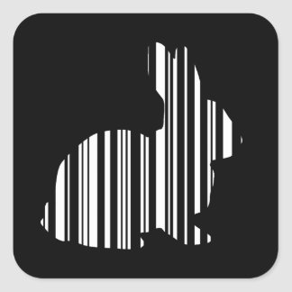 ウサギのバーコードのバニーのノウサギのバーコードパターン スクエアシール