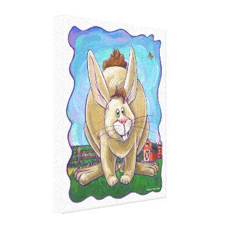 ウサギのパーティーの中心 キャンバスプリント