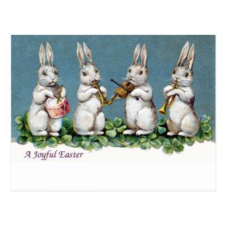 ウサギの四つ組のヴィンテージイースター ポストカード