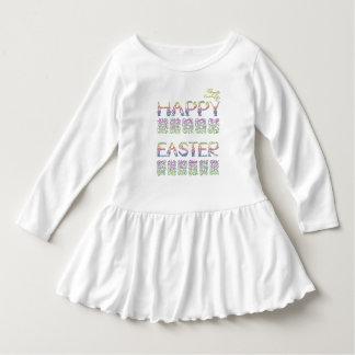 ウサギの手紙の幼児のひだの服のハッピーイースター ドレス