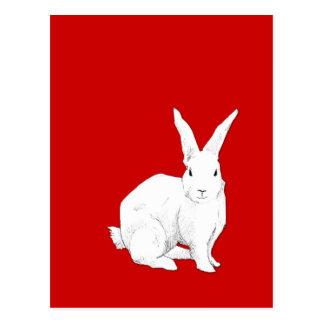 ウサギの赤の郵便はがき ポストカード
