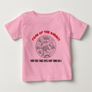 ウサギのTシャツの年 ベビーTシャツ
