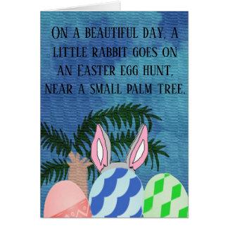 ウサギは卵の狩りです カード