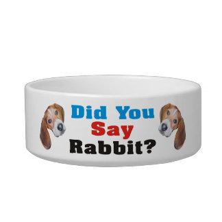 ウサギを言いましたか。 ビーグル犬犬ボール ボウル