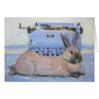 ウサギ及びタイプライター カード