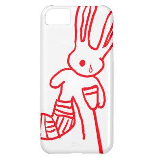 """""""ウサギ/バニー""""のおもしろいなiPhone 5の場合傷つけました iPhone5Cケース"""